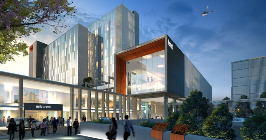 Westmead Hospital 3D Render Artist Interpretation Exterior Entrance