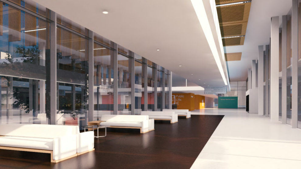 Westmead Hospital 3D Render Artist Interpretation Interior Waiting Room Foyer