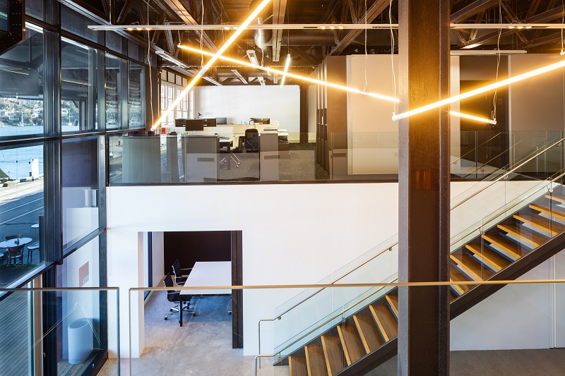 MSJ Office Jones Bay Wharf Pyrmont Interior Design Lights