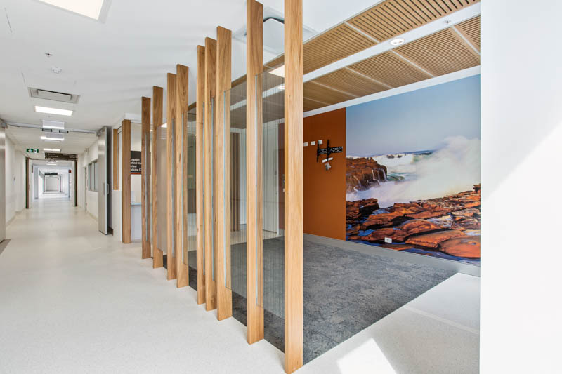 Gosford Hopsital Interior Timber Screen Artwork